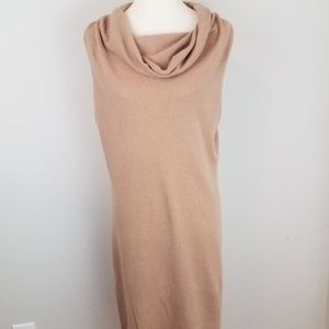 Neiman Marcus Cashmere Sleeveless Sweater Dress